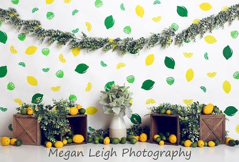 Kate Lemon Lines Summer Children Backdrop for Photography Designed by Megan Leigh Photography