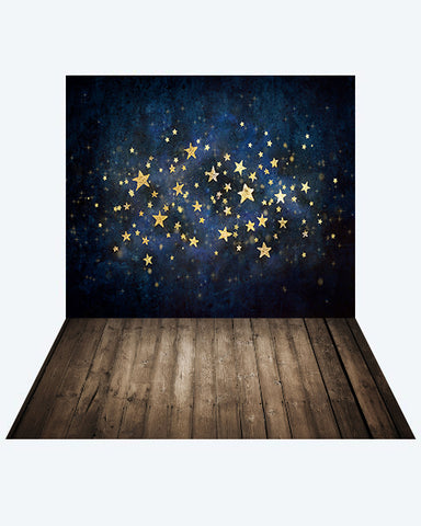 Kate Star Night Children Backdrop + Wood Floor Mat for Photography