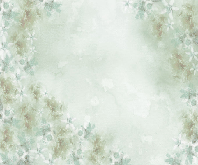 Kate Fine Art Watercolors Green Flowers Abstract Backdrop designed by Veronika Gant