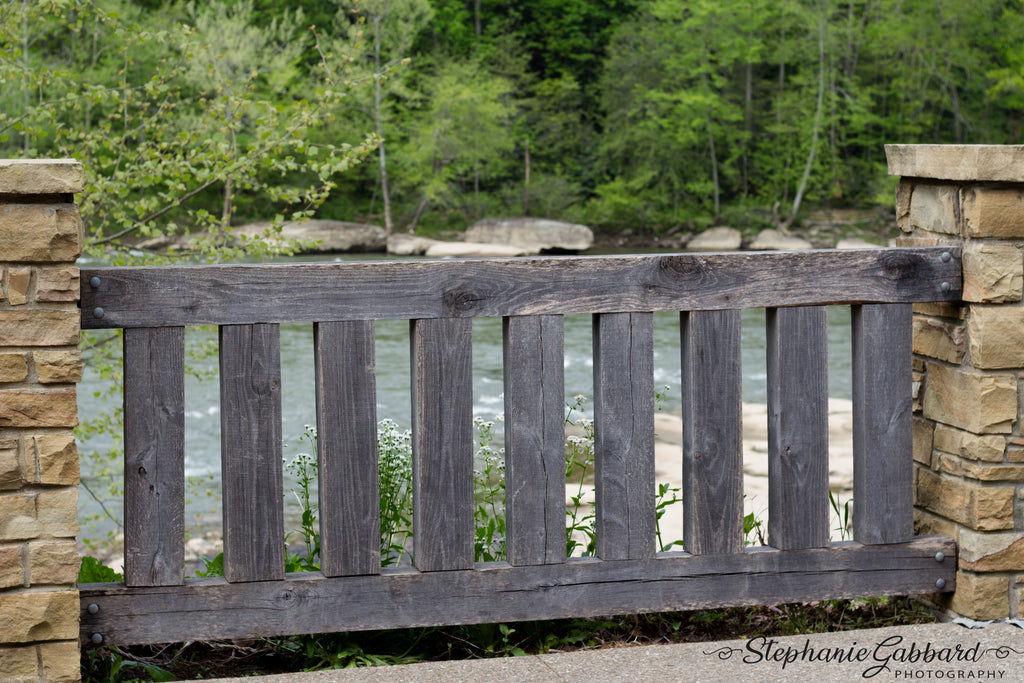 Kate Wood Railings and Bridgeside Scenery Backdrop for Photography Designed by Stephanie Gabbard