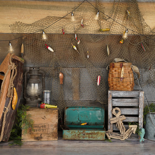 Load image into Gallery viewer, Kate Wood Gone Fishing Backdrop Designed by Arica Kirby