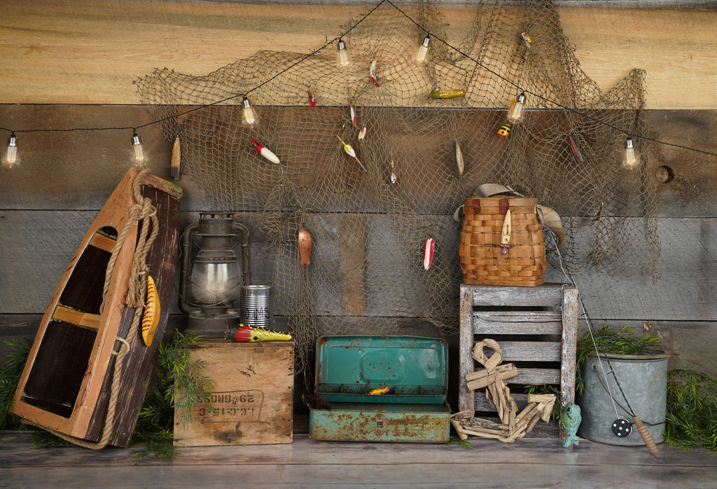 Kate Wood Gone Fishing Backdrop Designed by Arica Kirby