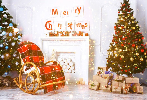Merry Christmas Tree with Chair Warm