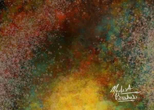 Abstract Spray Colorful Backdrop