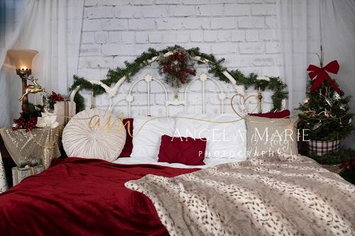 Christmas Headboard Backdrop