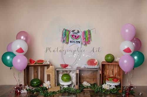 1st Birthday Cake Smash Watermelon Summer Backdrop