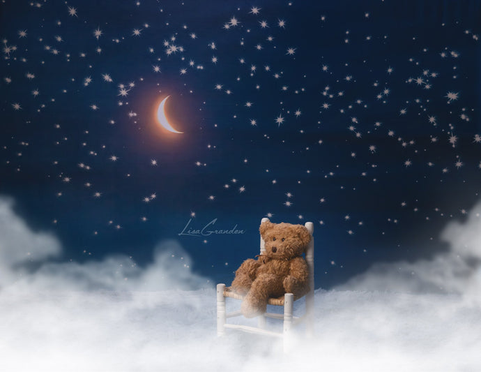 Kate Moon&Stars Backdrop for Photography Designed by Lisa Granden