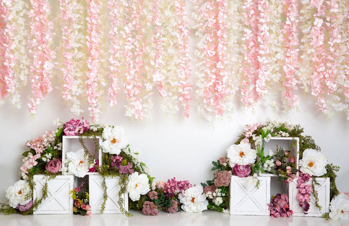 Kate Spring Florals Flower Wall Wedding Backdrop Designed By Megan Leigh Photography