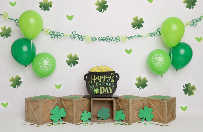Kate St.patricks Day Green Party Backdrop Designed by Melissa King