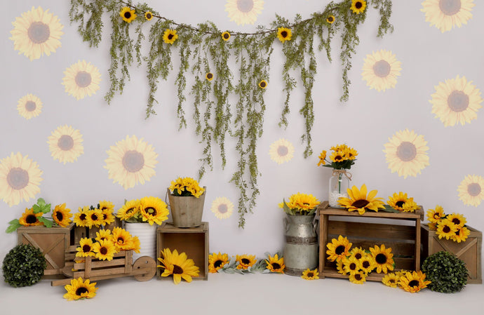 Kate Spring Sunflower Birthday Backdrop Designed by Melissa King