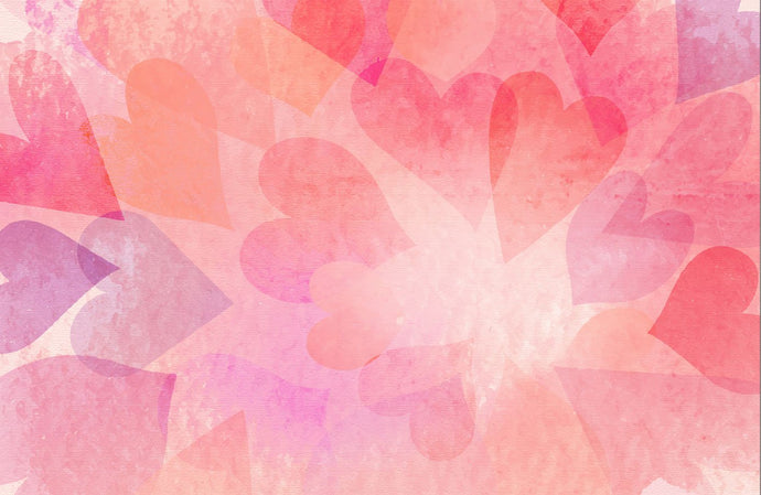Kate Valentine's Day Pink Bokeh Hearts Backdrop Designed by Amanda Moffatt