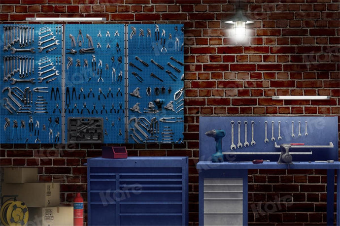 Kate Father's Day Tool Room Backdrop for Photography