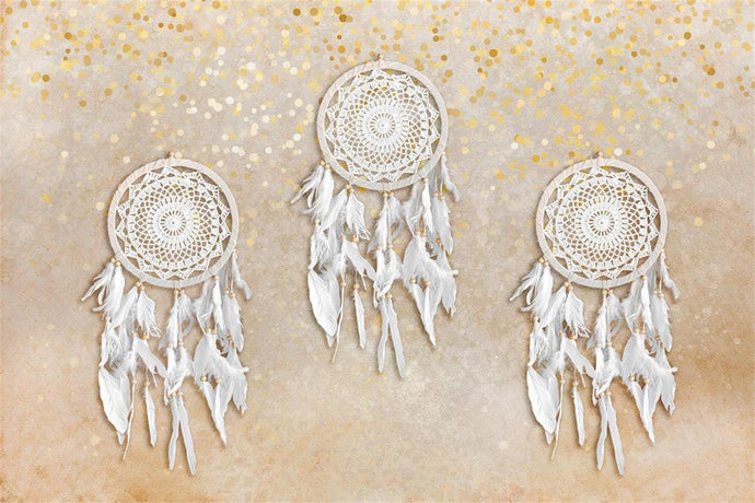 Kate Simple Beige Boho Dreamcatcher Backdrop for Photography