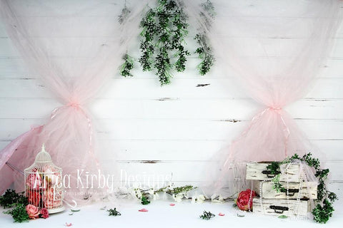 Kate Garden Party in Pink Backdrop designed by Arica Kirby
