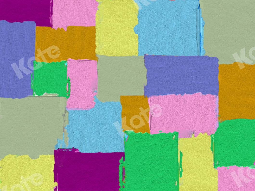Painted Color-blocking Backdrop