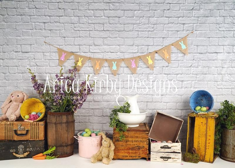 Load image into Gallery viewer, Kate Hoppy Easter Backdrop designed by Arica Kirby