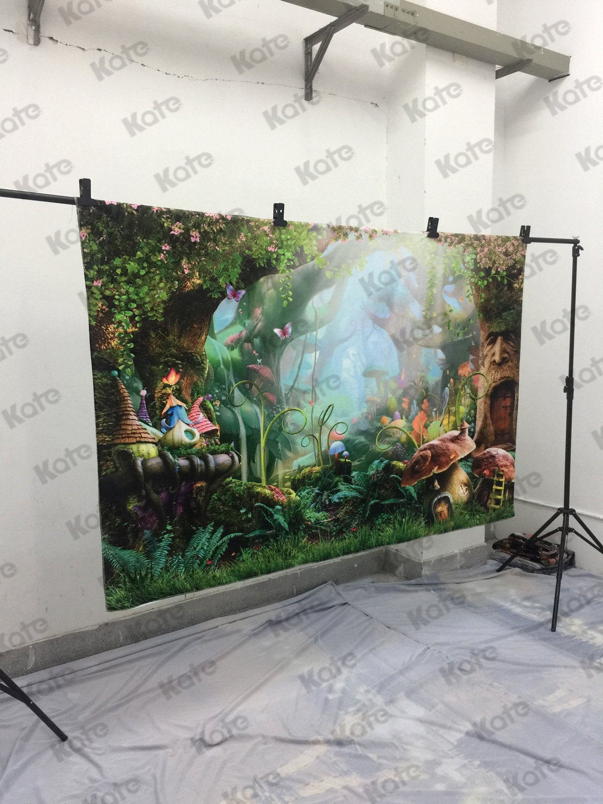 Load image into Gallery viewer, Katebackdrop:Kate Children Fairy Tale Colorful Forest Mushrooms Backdrops