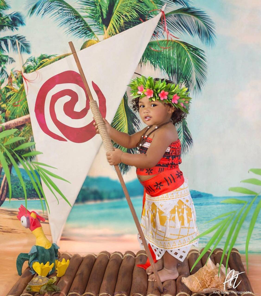 Kate Sea Summer Holiday Beach with Coconut tree Photography Backdrop