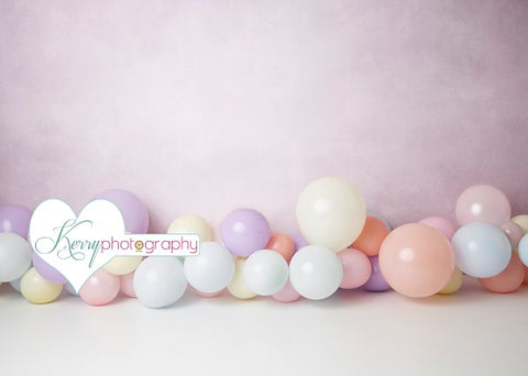 Kate Light Purple Balloons for Children Backdrop for Photography Designed by Kerry Anderson