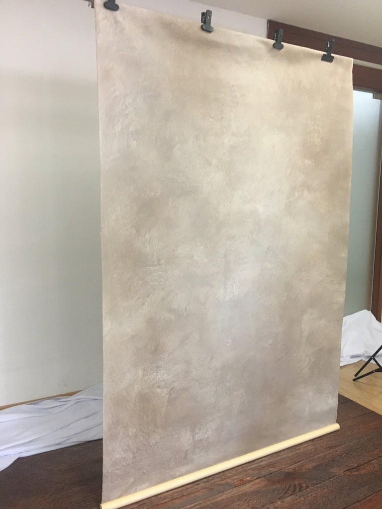 RTS Canvas Kate Light Brown and Yellow Texture Hand Painted Canvas Backdrop