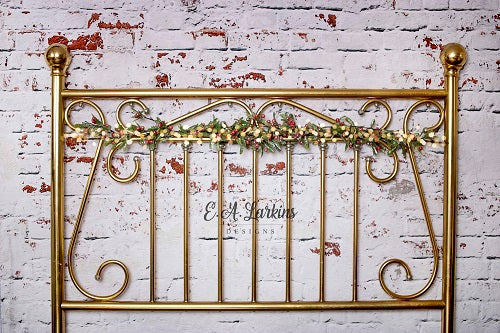 Kate Christmas Brass Headboard