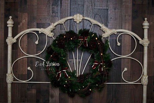 Kate Christmas Headboard Wreath