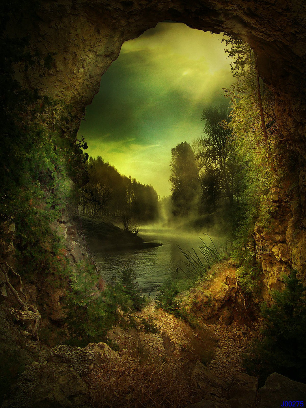 Kate Children Fantasy Green Cave Fairy Tale Photography Backdrops - Kate backdrops UK