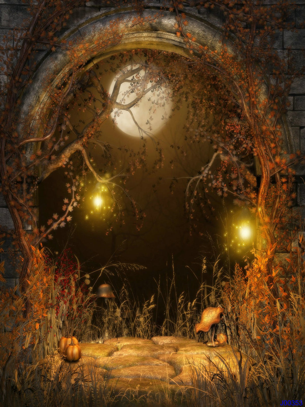Katebackdrop£ºKate Halloween Photography Backdrop Vintage Forest Photo Background