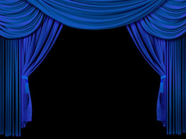 Kate Blue Stage Curtain Backdrops School Photo for Photographers - Kate backdrops UK