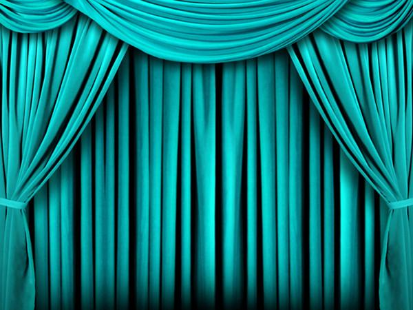Katebackdrop:Kate Light Green Stage Curtains Backdrops Photo Background