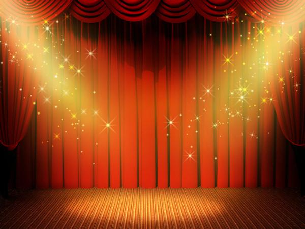 Katebackdrop:Kate Projector Lamp Stage Cutrain Photo Backdrop