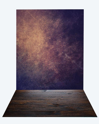 Katebackdrop:Kate dark abstract texture backdrop + wood floor mat