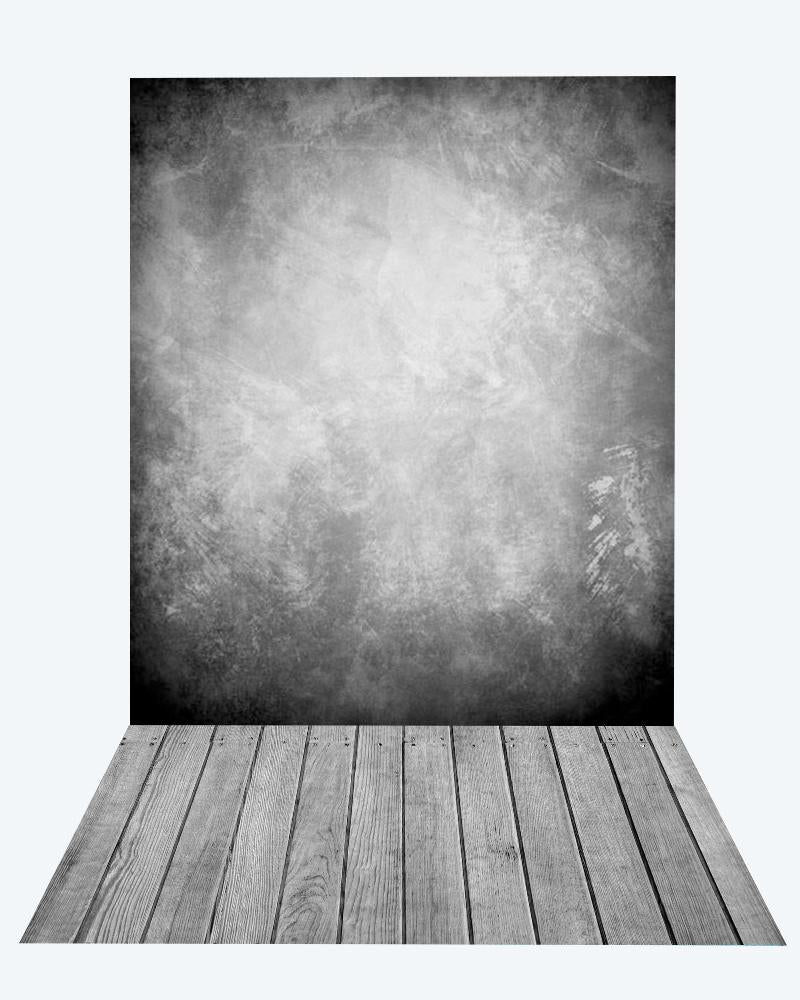 Kate Abstract Grey Backdrop Texture Vintage backdrop + Wood Floor Mat for Photography - Kate backdrops UK