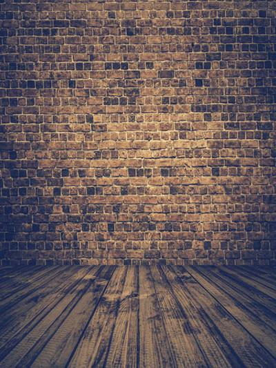 Katebackdrop£ºKate Brown Brick Wall Old Wood Backdrops For Studio