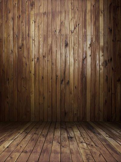 Katebackdrop:Kate Retro Style Dark Brown Wooden Wall Backdrop