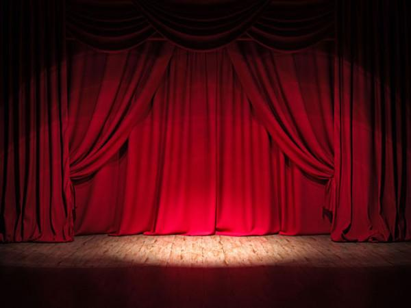 Katebackdrop:Kate Red Stage Curtain Decoration Backdrops for Party