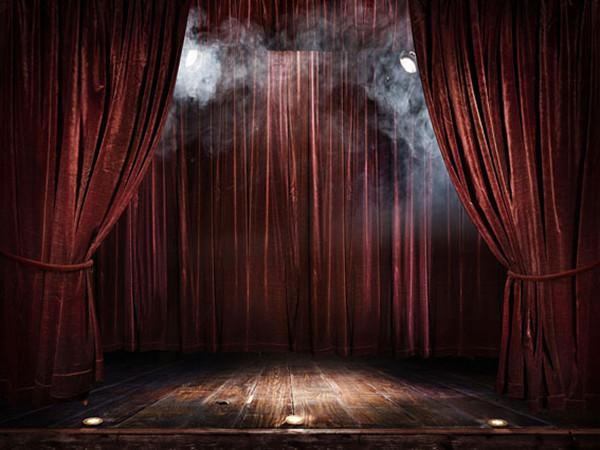 Katebackdrop:Kate Stage Photography Backdrops Burgundy Curtain Light Background