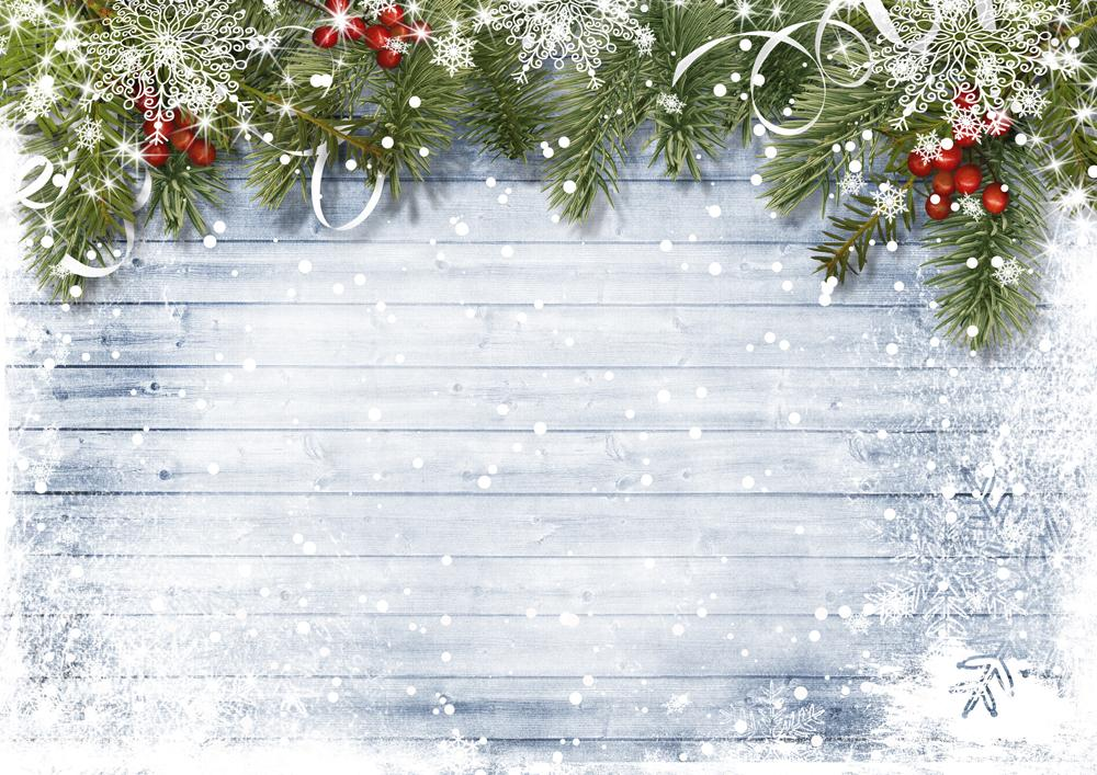 Kate Grey Wood Floor Bokeh Christmas Backdrop Pine Decorations - Kate backdrop UK