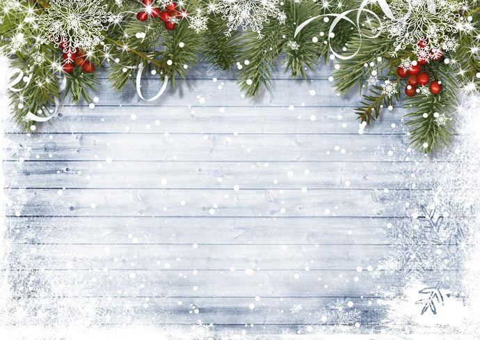 Katebackdrop£ºKate wooden bokeh Christmas backdrop Pine branches decoration