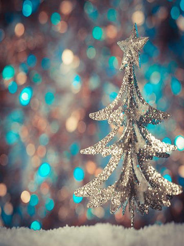 Kate Blue Green Blurring Glitter Tree Backdrop for Christmas Photography - Kate backdrops UK