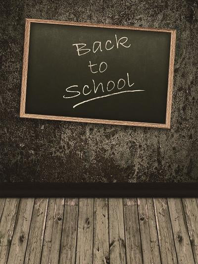 Kate Wood Floor Dark Wall Photography Back to School Backdrop