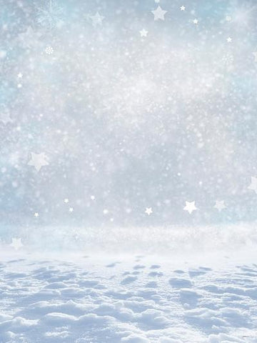 Katebackdrop:Kate Winter Snow Sliver White Star Glitter Photo Props Backdrop