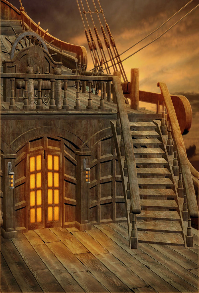 Katebackdrop£ºKate Pirates of the Ship photography Backdrop for studio