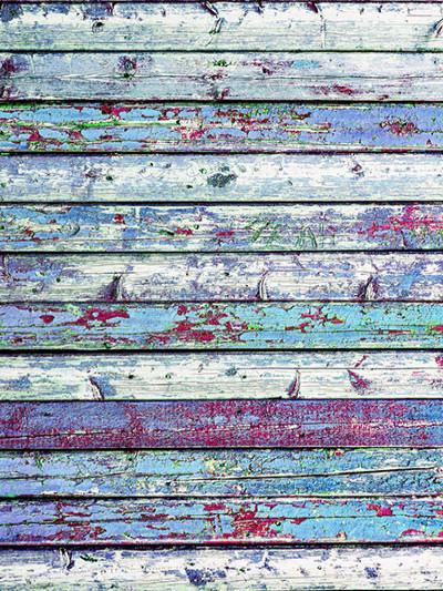 Katebackdrop:Kate Retro Style Colorful Wooden Wall Photography Backdrop