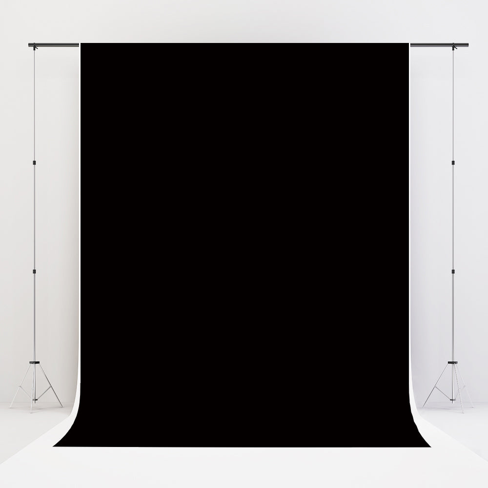 Kate Solid Black Photo Portrait Photography Backdrop for Studio