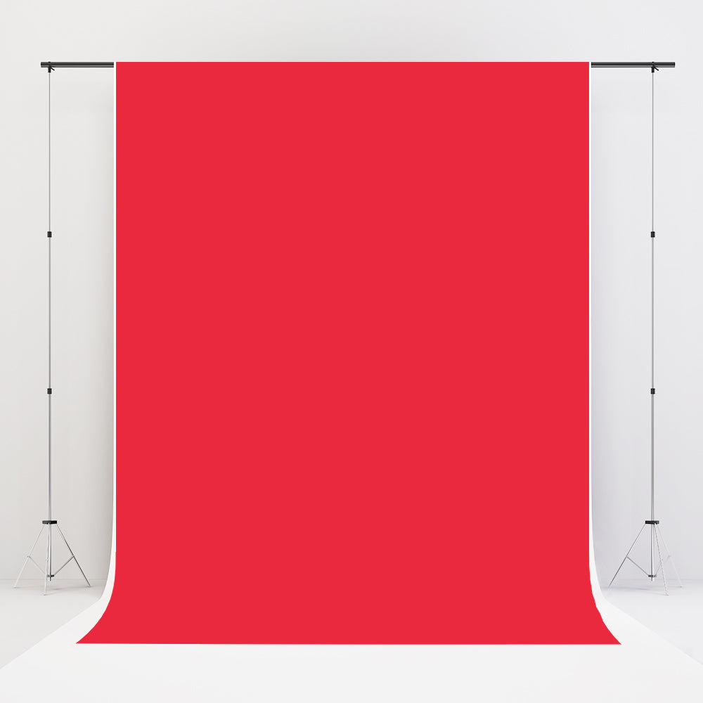 Kate Red Solid Backdrop Portrait Background for Photo Studio