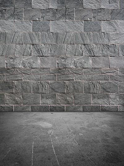 Katebackdrop£ºKate Dark Gray Brick Background Texture Cement Flooring For Photography