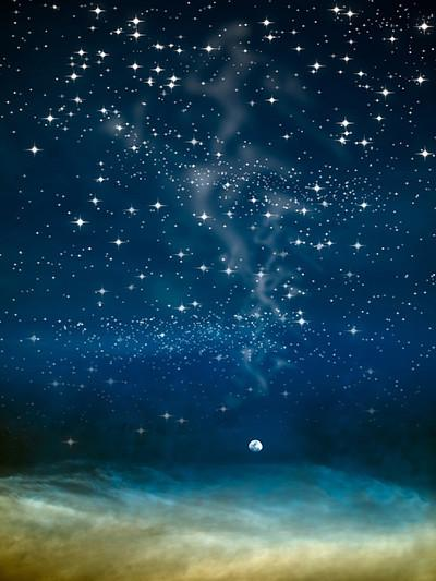Kate Blue Night Star Dream Backdrop for Children Photography - Kate backdrops UK