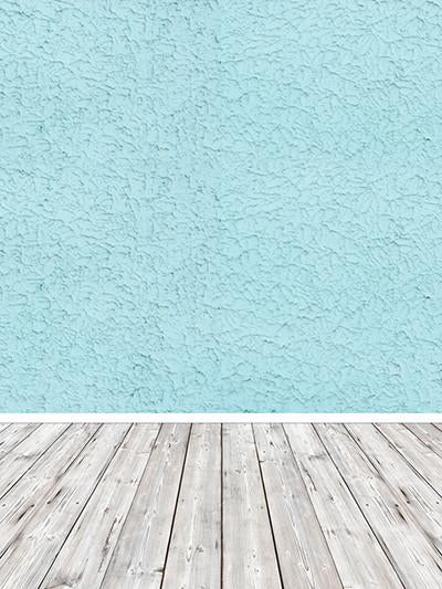Katebackdrop£ºKate Light Sky Blue Wall White Floor Baby Backdrops