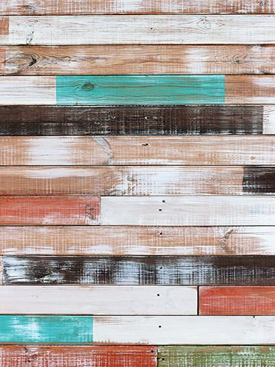 Katebackdrop:Kate Retro Color Bar Mottled Wood Wedding Background For Studio